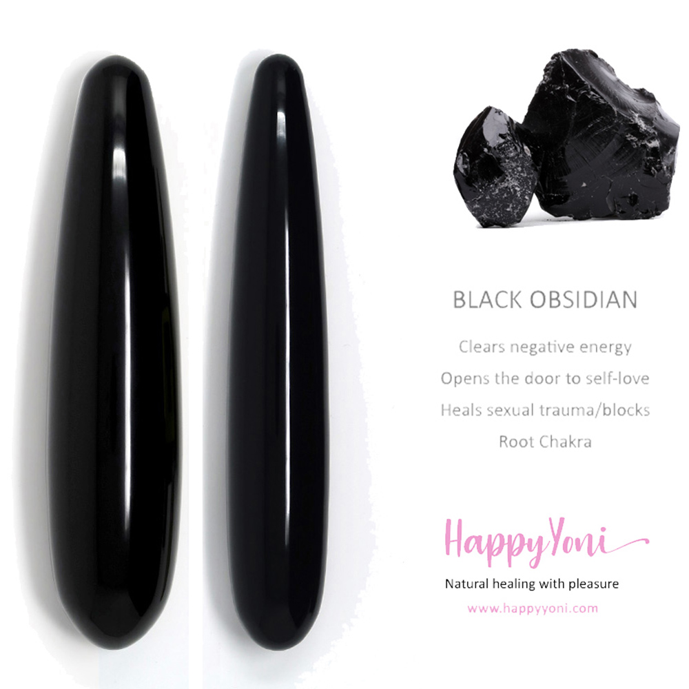 Black Obsidian yoni wand