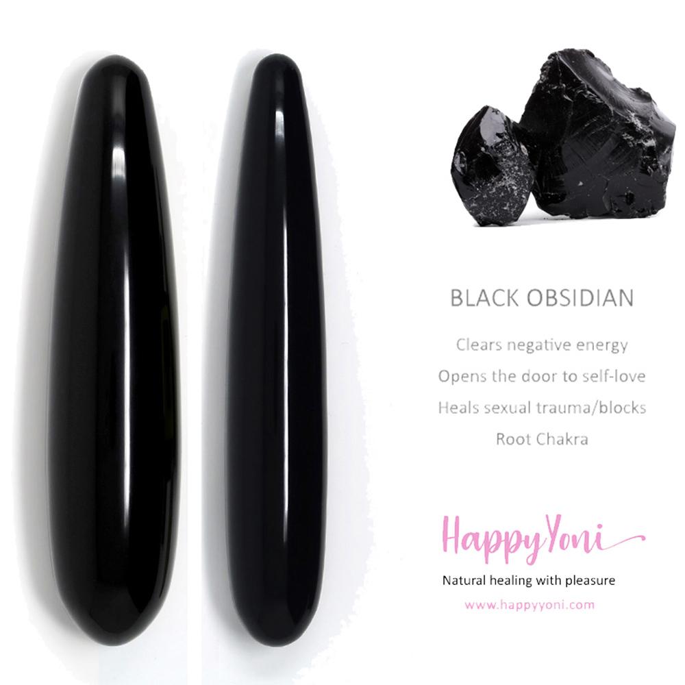 Baguette Yoni Obsidienne Noire