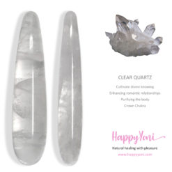 clear quartz yoni wand